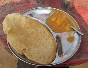 Photo: Puri and Alo breakfast Bhubaneshwar Orissa