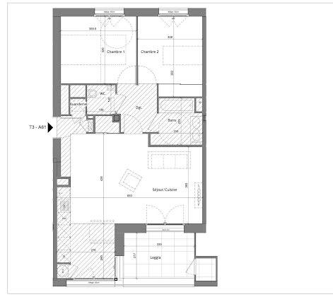 Vente appartement 3 pièces 69,79 m2