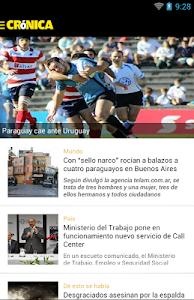 Diario Cronica Paraguay screenshot 0