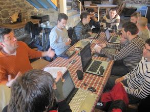 Photo: AGNIX en asemblea, 20110205. Seguimos avanzando. Obsérvese ao noso presi Tonio en estado de exaltación de ideas :)