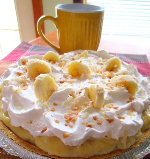 ~ Pineapple Banana Cream Pie ~ Recipe