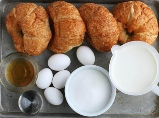 Caramel Croissant Bread Pudding Recipe