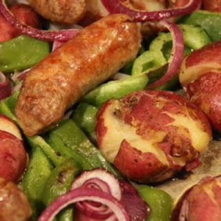 Sweet Sausages with Red Potatoes