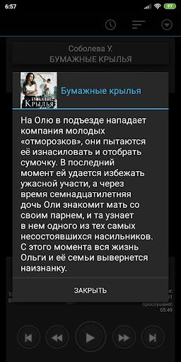 Бумажные крылья. Соболева У. Аудиокнига screenshot 2