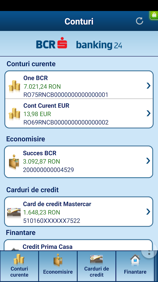 Touch 24 Banking BCR- screenshot