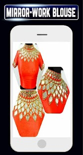 Latest Mirror Work Blouse Designs Collar Back neck - náhled