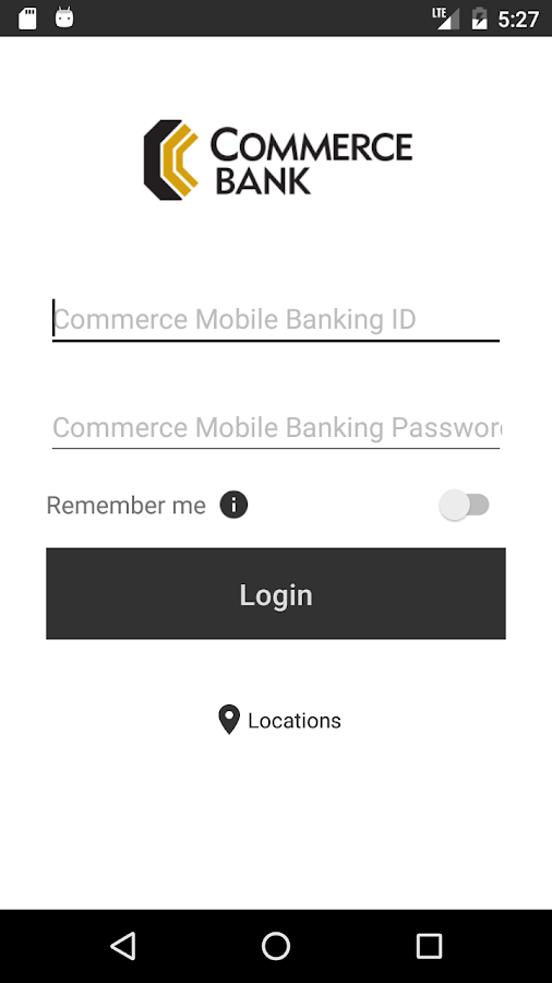 Commerce Mobile Banking- screenshot