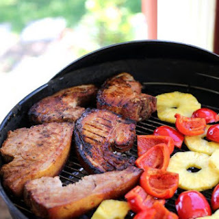 Chargrilled Korean Style BBQ Pork Chops Recipe