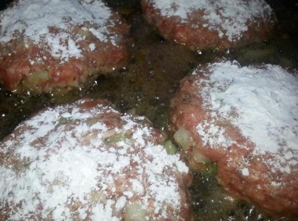 In large skillet, heat olive oil on medium heat. Brown patties lightly on both...