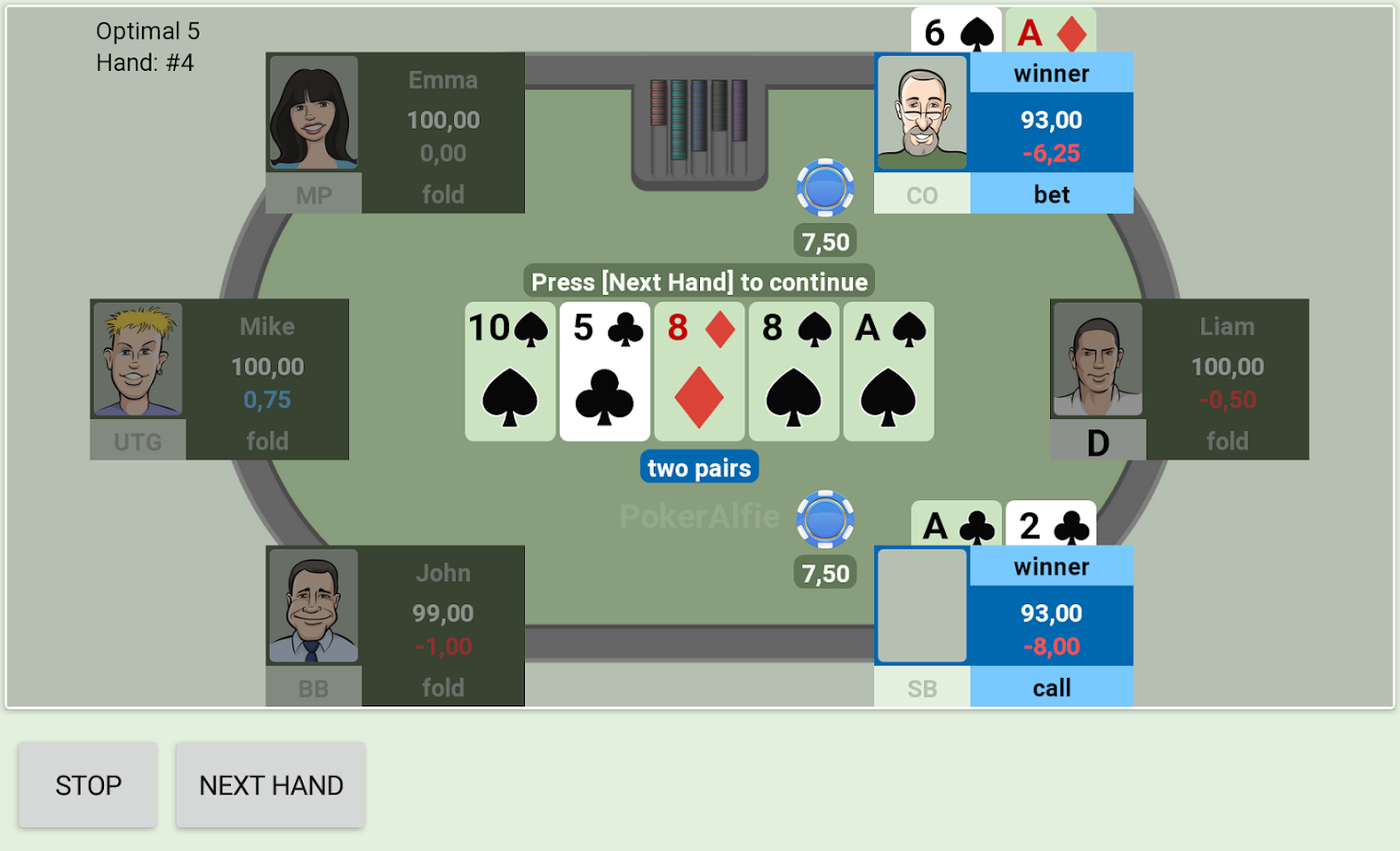 Offline Poker With Ai Pokeralfie Pro Poker Android
