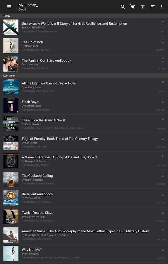 Audiobooks from Audible- screenshot