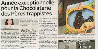 Année exceptionnelle pour la Chocolaterie des Pères Trappistes le Quotidien