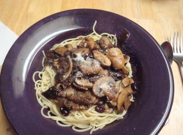 Mushroom And Black Bean Pasta Sauce