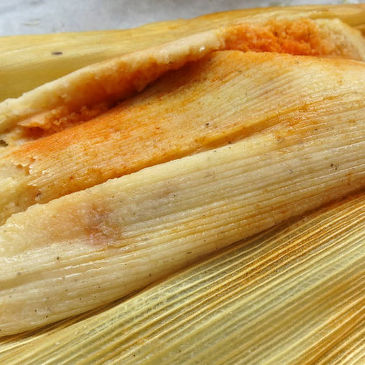 Hatch  extra Mexico Red Chile Pork Tamales •
