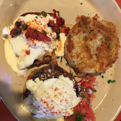 Benny Duo: Chilaquiles Benedict (Barbacoa beef) + Benny Goodman (Lox salmon and cream cheese)
