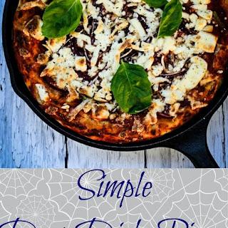 Easy Deep Dish Veggie Skillet Pizza Recipe