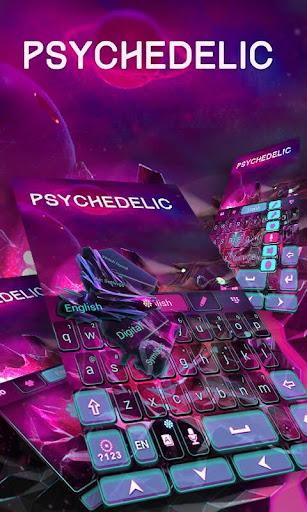 Psychedelic GO Keyboard Theme