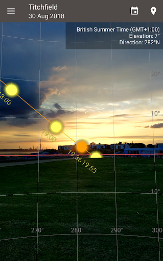 Screenshot for Sun Position, Sunrise, and Sunset in Hong Kong Play Store