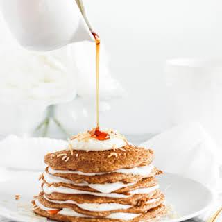 Healthy Carrot Cake Pancakes.