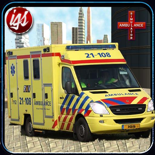 市救急車レスキュードライブ 模擬 LOGO-玩APPs