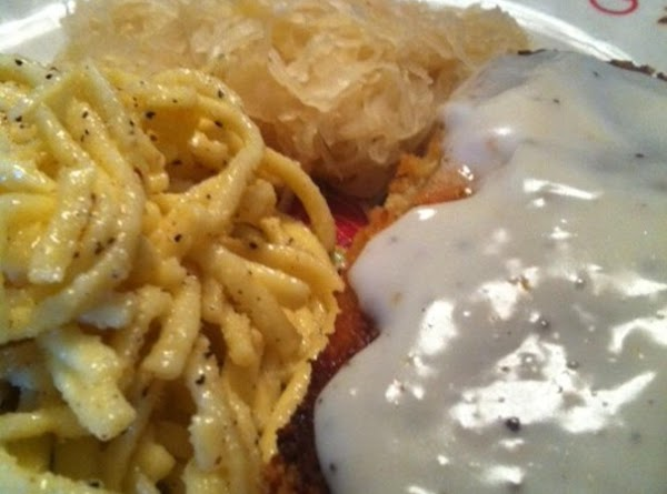 Serve with some brats, snitzle, pork chops anything you like : ) Very good...