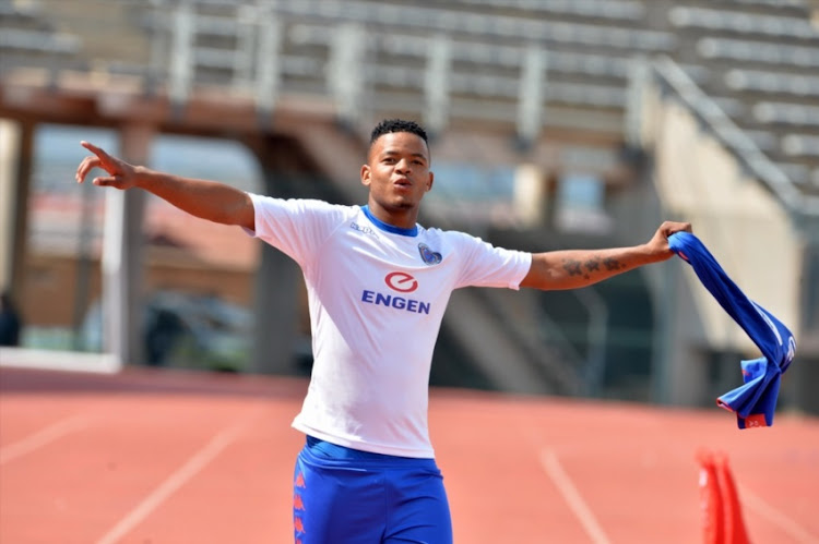 Sipho Mbule during the Absa Premiership match between SuperSport United and Bloemfontein Celtic at Lucas Moripe Stadium on February 03, 2018 in Pretoria, South Africa.