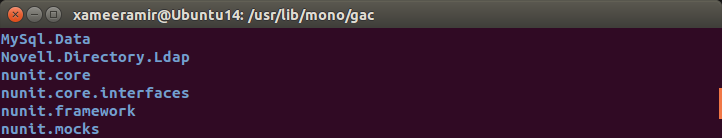 MySql Mono connector registered in GAC