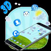 Blue Cat 3D Mobile Theme
