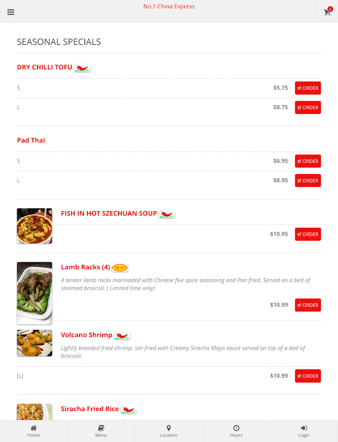 No.1 China Express Ordering- screenshot