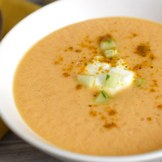 Chilled Cantaloupe Curry Soup.