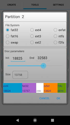aparted ( sd card partition ) screenshot 3