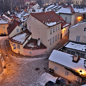 Night Prague by Drahomír Škubna - City,  Street & Park  Historic Districts