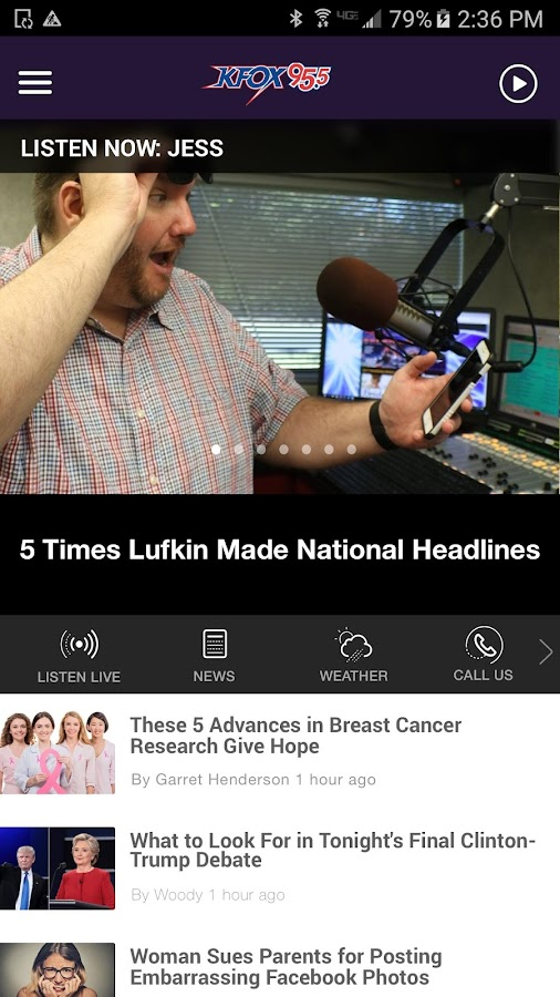 K-Fox 95.5 - Lufkin (KAFX)- screenshot