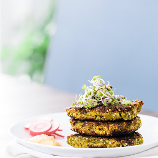 Falafel Patties with Harissa Yogurt