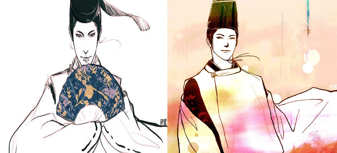 representación de un joven Onmyōji