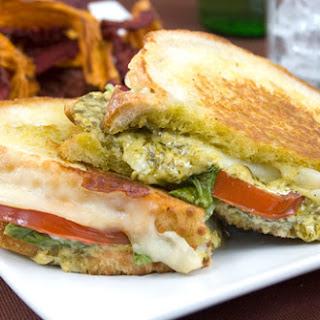Pesto, Tomato & Provolone Sandwiches.