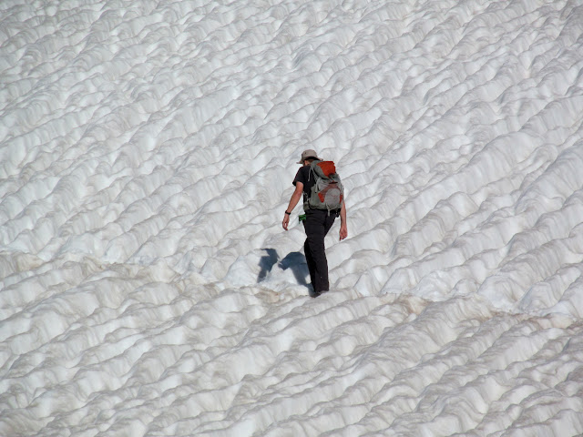 Crossing a snow field