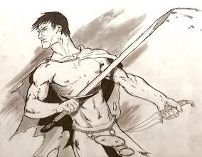 Photo: Young Conan - God, am I proud of that splatter effect.