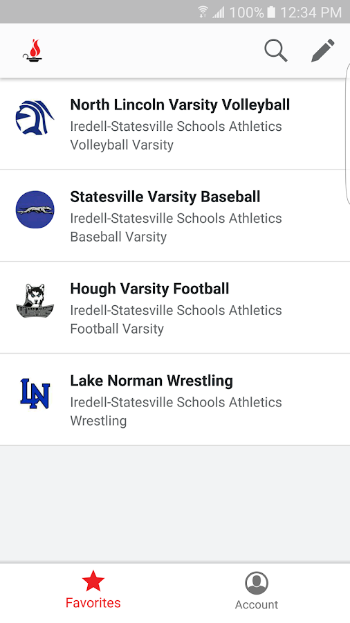 Iredell Statesville Athletics- screenshot