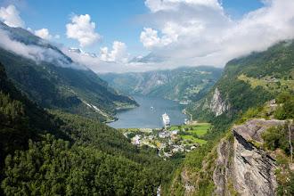 Photo: Geirangerfjord, Aussichtspunkt Flydalsjuvet, Norwegen