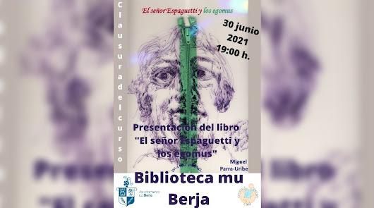 Miguel Parra-Uribe presenta en Berja 'El señor Espaguetti y los egomus'