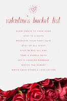 Valentine's Bucket List - Pinterest Pin item