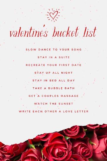 Valentine's Bucket List - Valentine's Day template