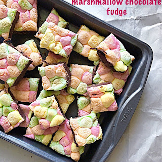 3 Ingredients Marshmallow Chocolate Fudge