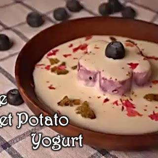 Purple Sweet Potato Yogurt.