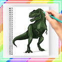 How to Draw Jurassic Dinosaur icon