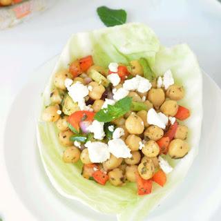 Chana Salad or Chickpea Salad.