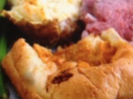 Yorkshire pudding isn't really a pudding as we think of puddings, and it isn't...