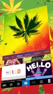 Amazing Leafy Weed Keyboard Theme - náhled