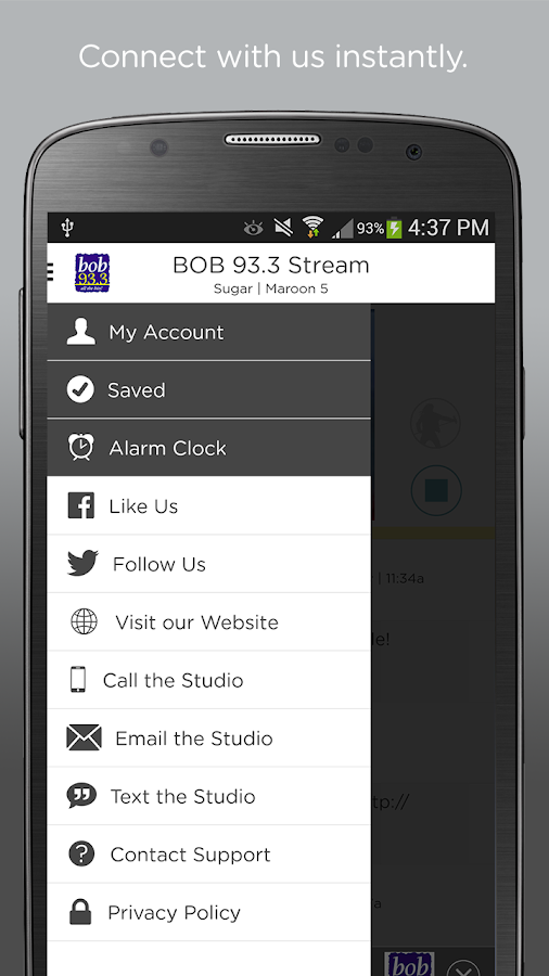 BOB 93.3- screenshot